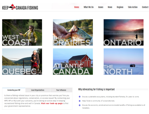 Keep Canada Fishing – Website