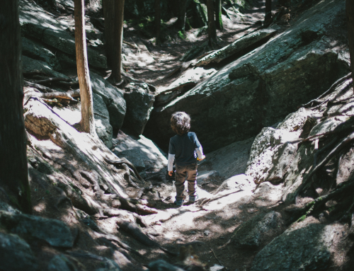 Boy at the Warsaw Caves